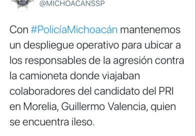 Dice SSP  que busca a sicarios que atacaron camioneta de Memo Valencia