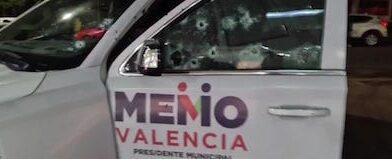 Balean camioneta de Memo Valencia, candidato a la alcaldía de Morelia